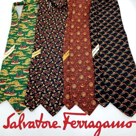 Salvatore Ferragamo Other - Salvator Ferragamo Tie Lot of 4 100% Silk